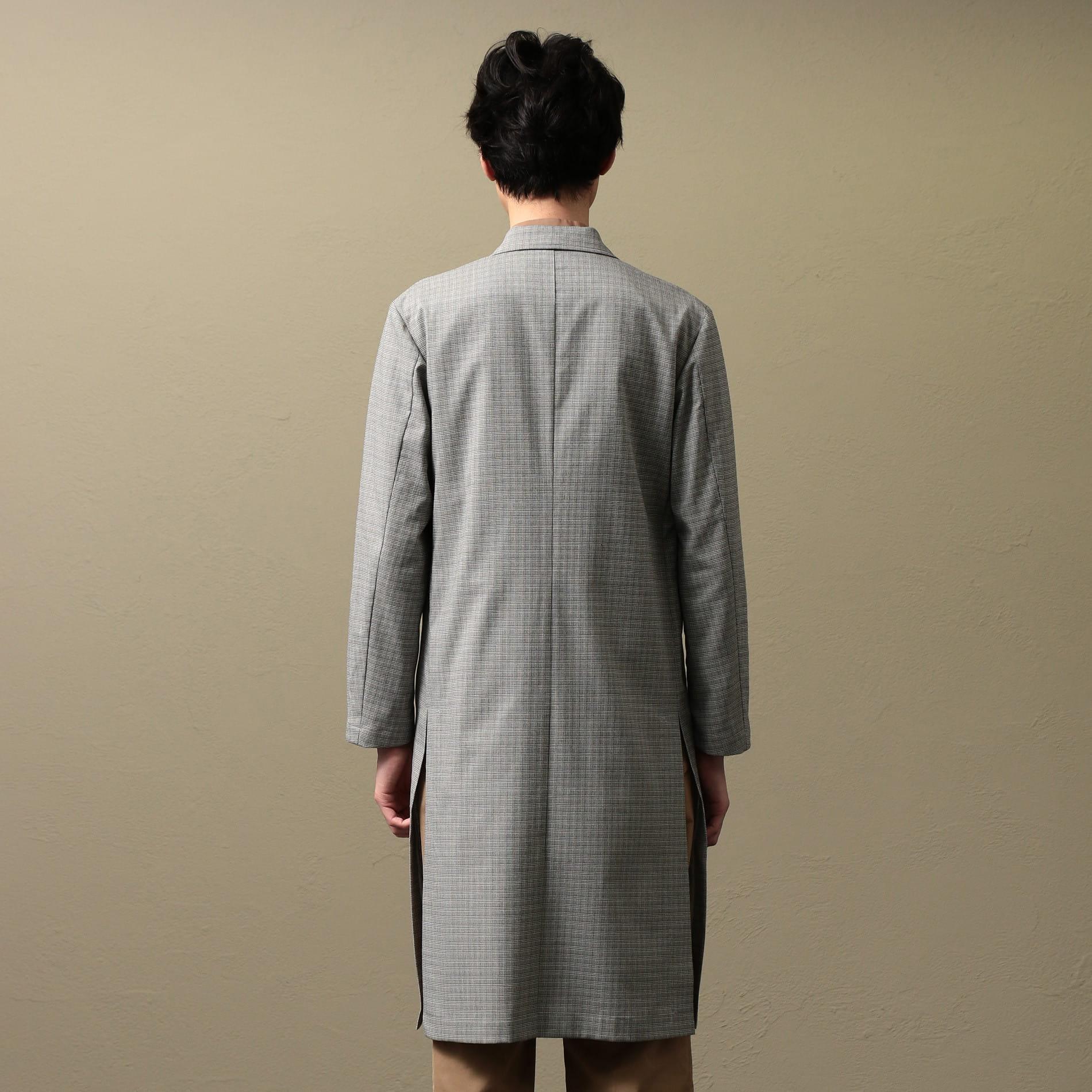 【LF】MEN マイクログレンチェックコート