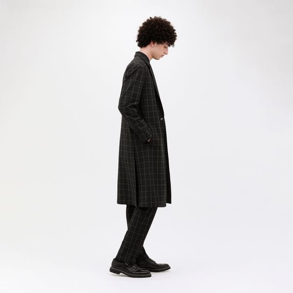 【LF】ストレッチ グレンチェック コート