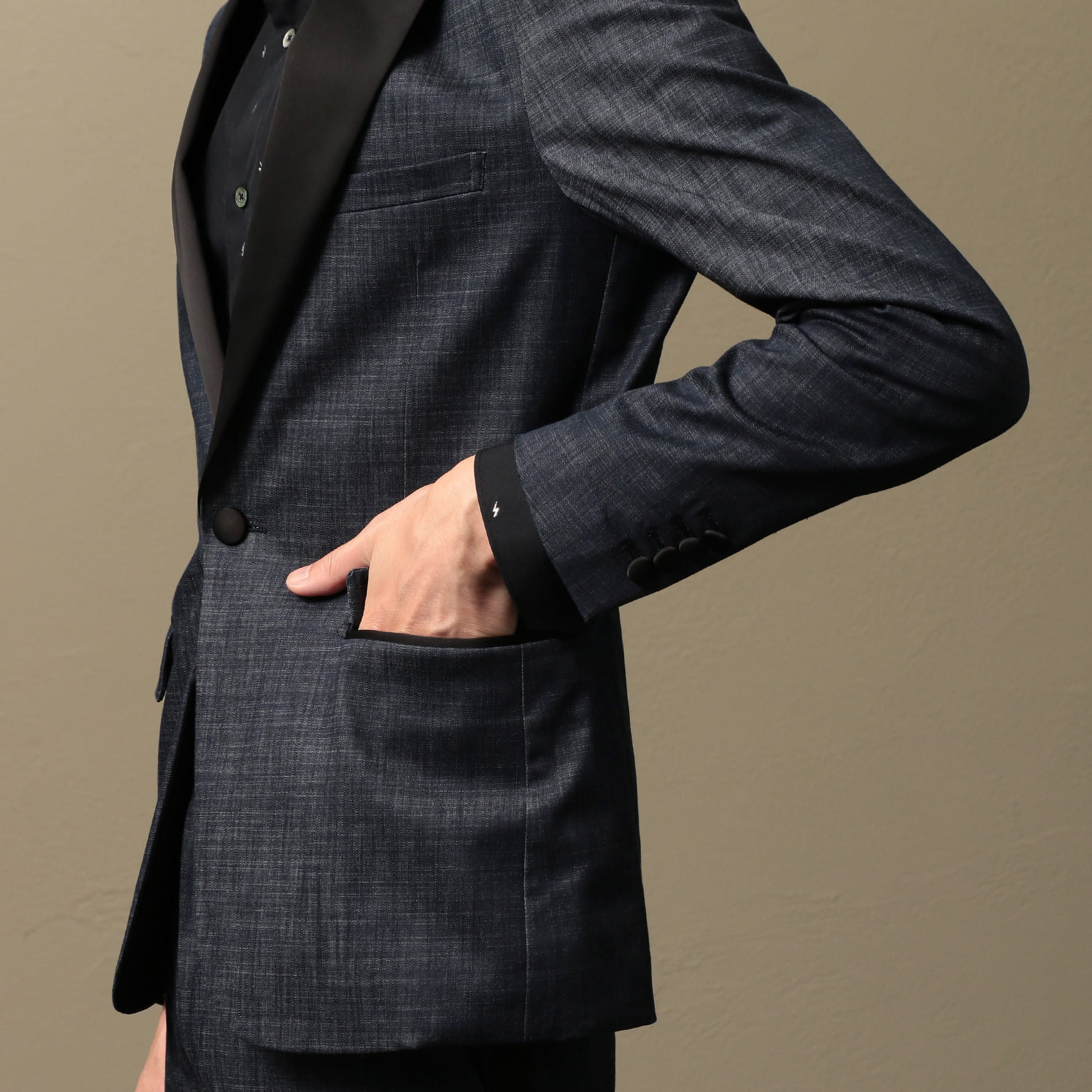 MEN デニムタキシードジャケット