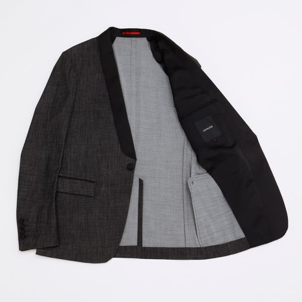 【予約販売】ショールカラー ストレッチデニム タキシードジャケット