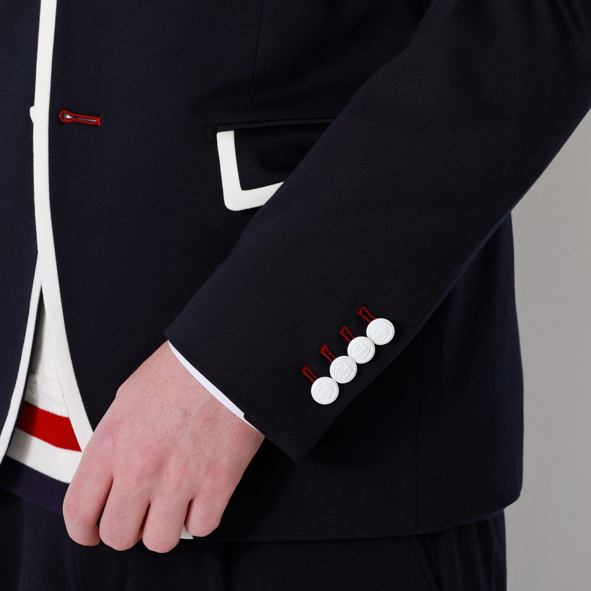 トリコロール パイピングジャケット