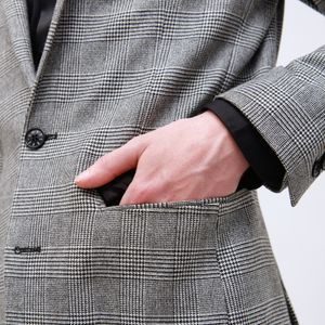 〈タイムセール〉グレンチェック ジャケット