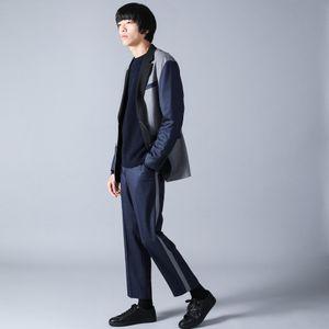 デニムライク ブロッキングジャケット