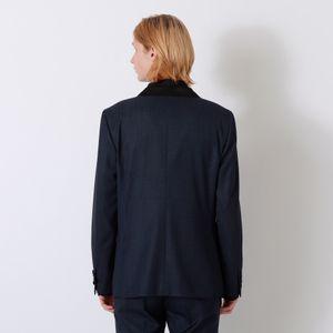 デニムライク タキシードダブルジャケット
