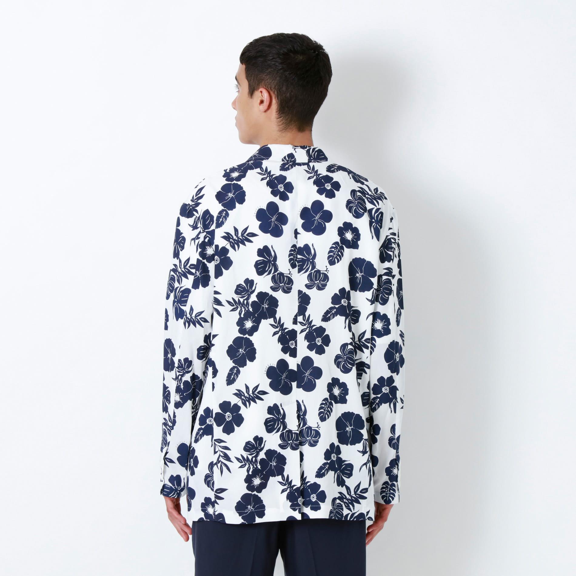 サマーフラワー シャツジャケット