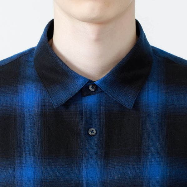 オンブレーチェック シャツ