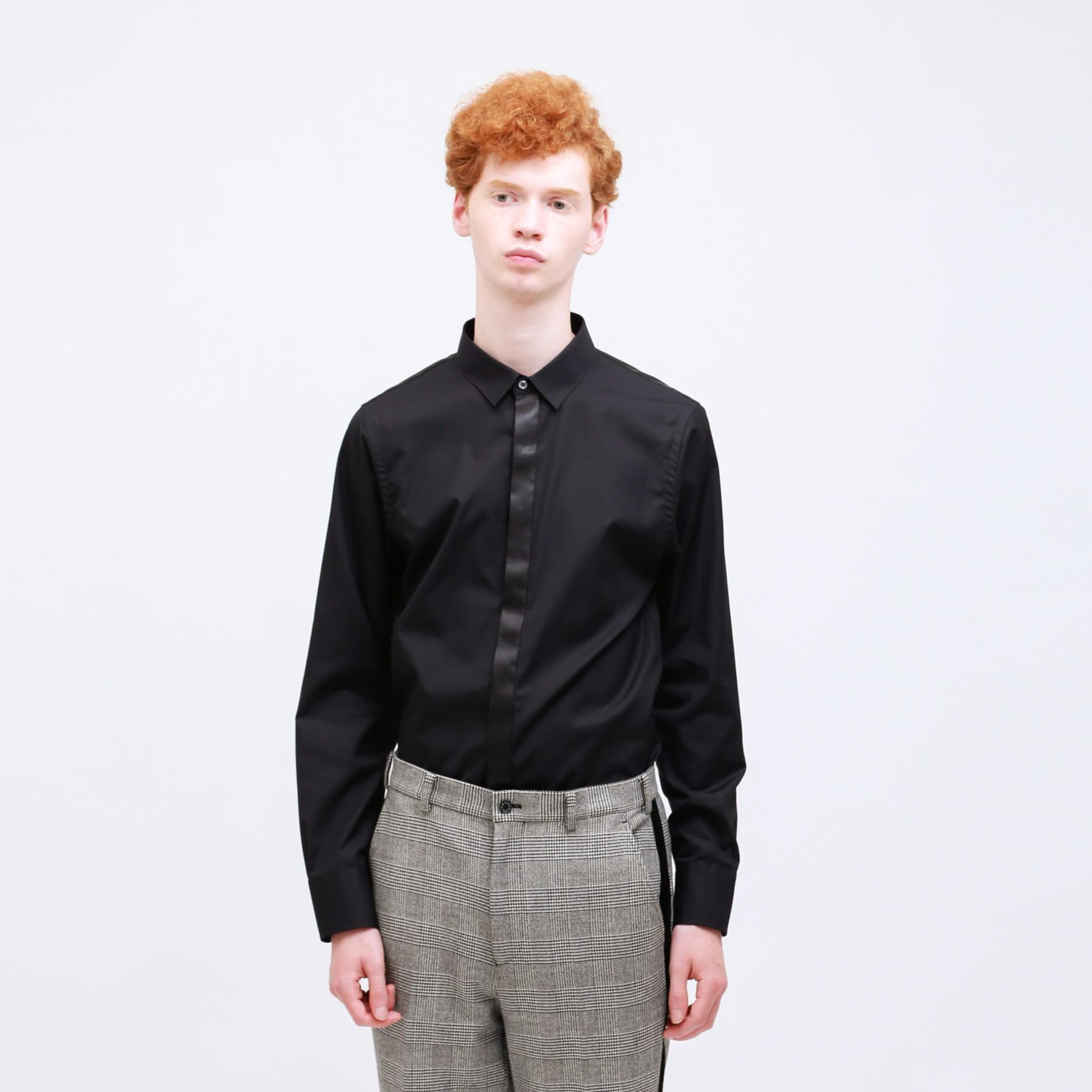 グリッター ブロッキングシャツ