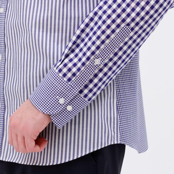 パッチワーク リラックス シャツ