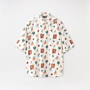 【LOVELESS×とんだ林蘭】コラージュハーフスリーブシャツ