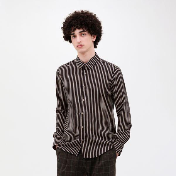【LF】ネイビー ストライプシャツ