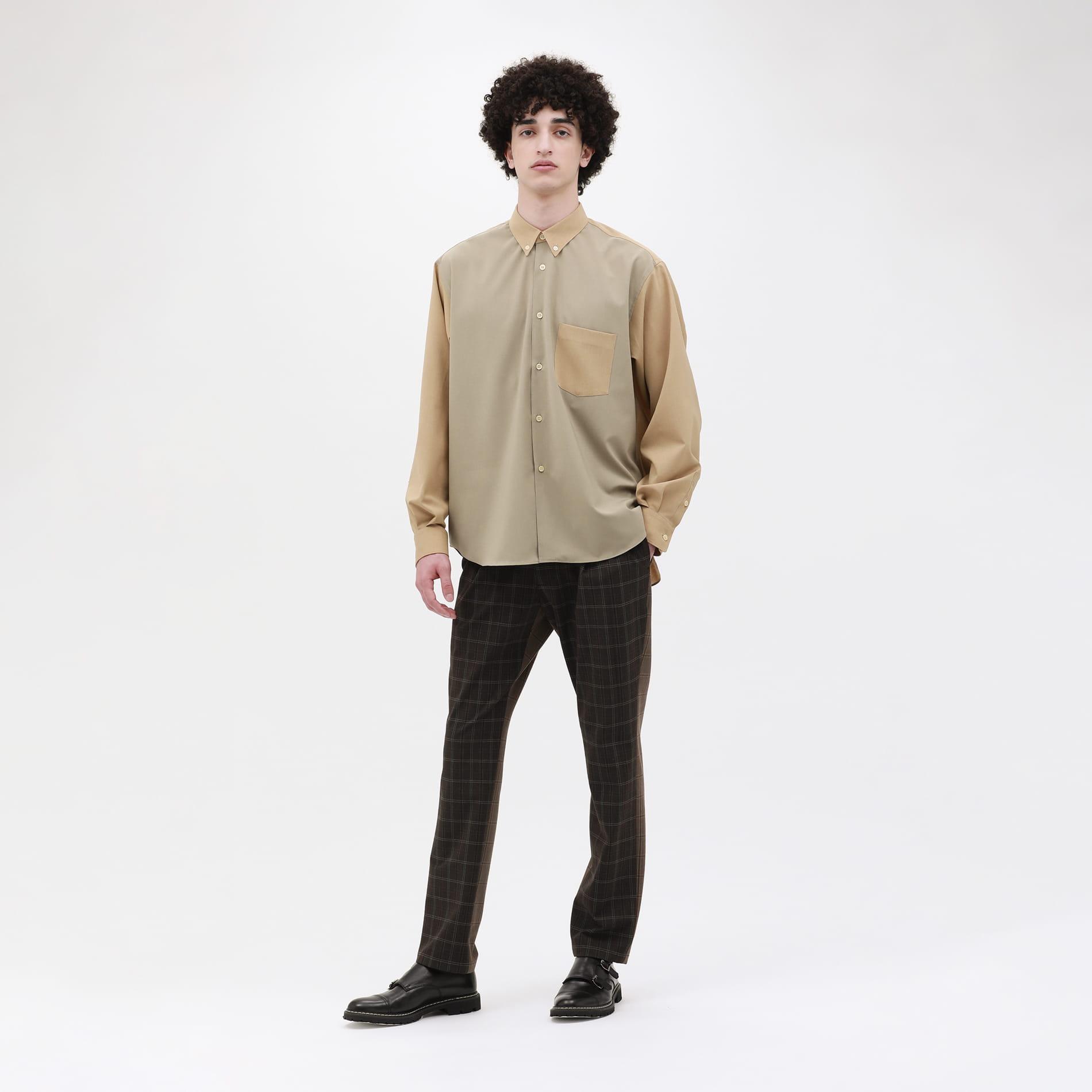 【LF】ポリボイル B.D ワイドシャツ