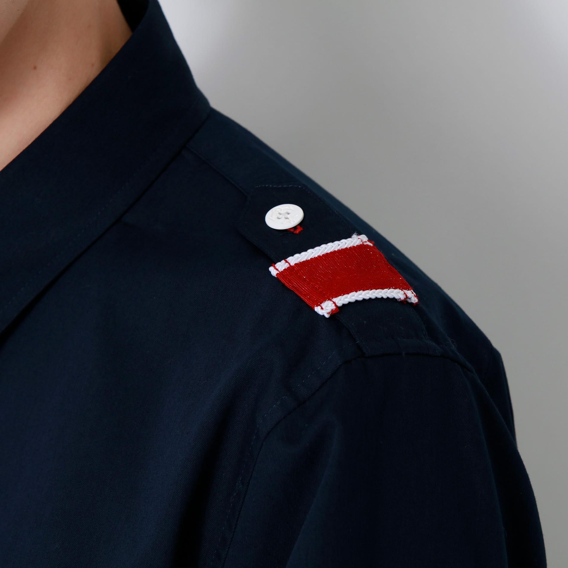 トリコロール ミリタリーナポレオンシャツ