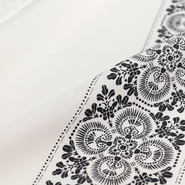 韓美林 藍印花布 オープンカラーシャツ