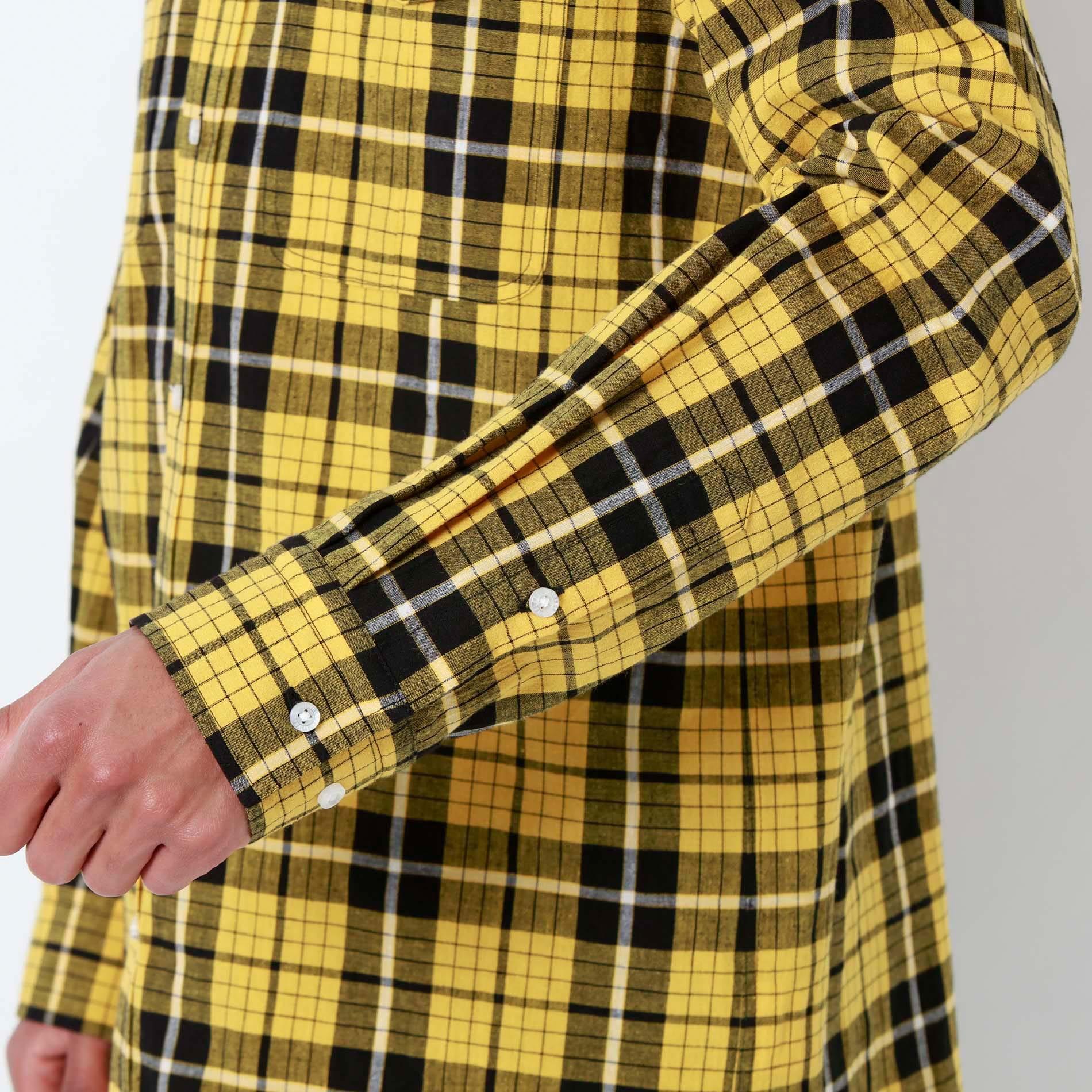 Safari RAMPONIスタースタッズ アームスカルチェックシャツ