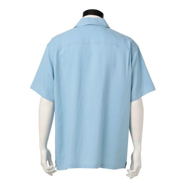 MEN はっ水オープンカラーシャツ