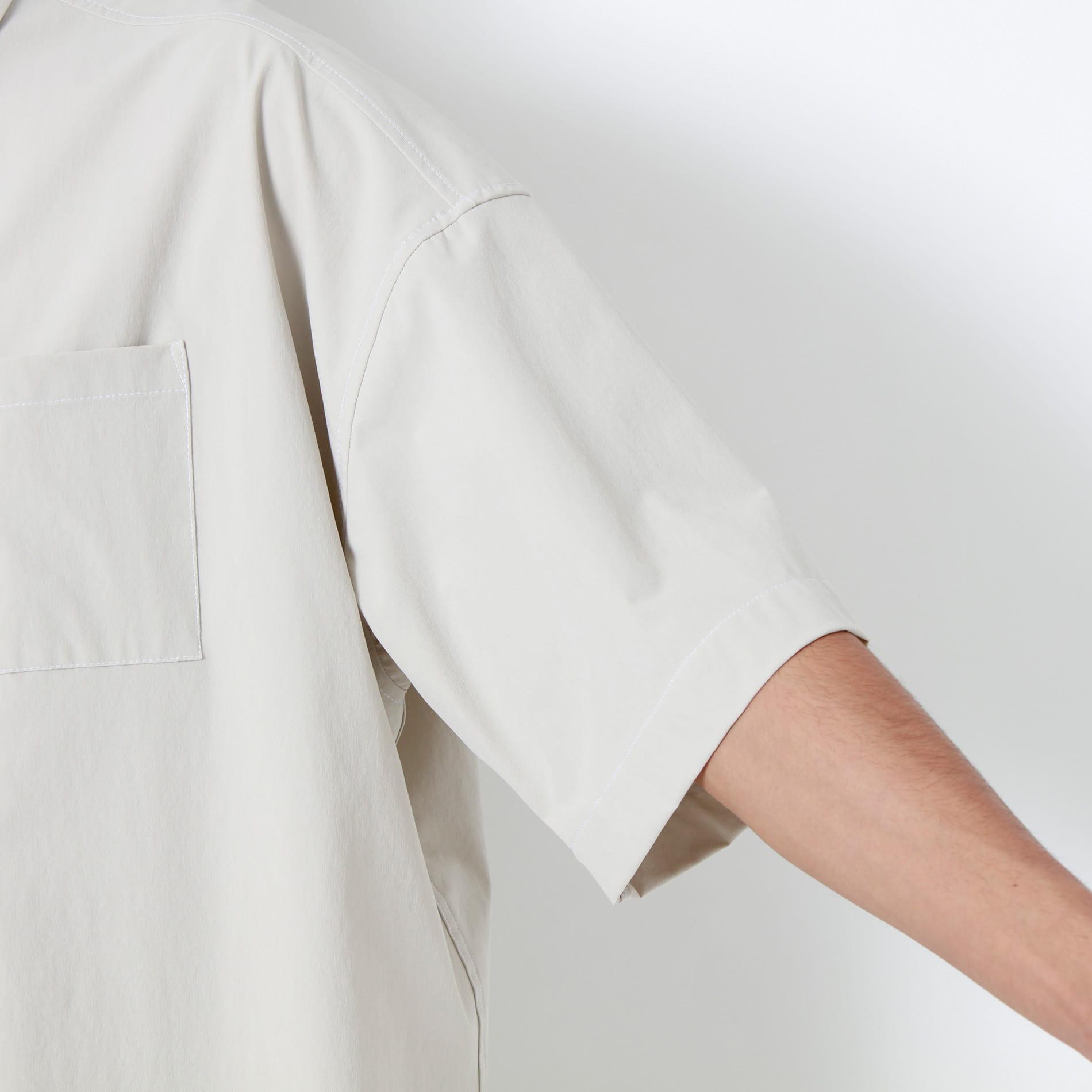 ステッチワーク ハーフスリーブシャツ