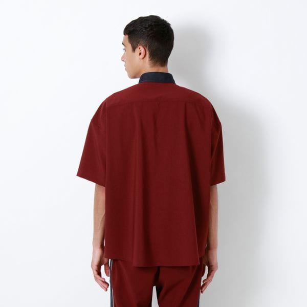 ラインクレリック ハーフスリーブシャツ