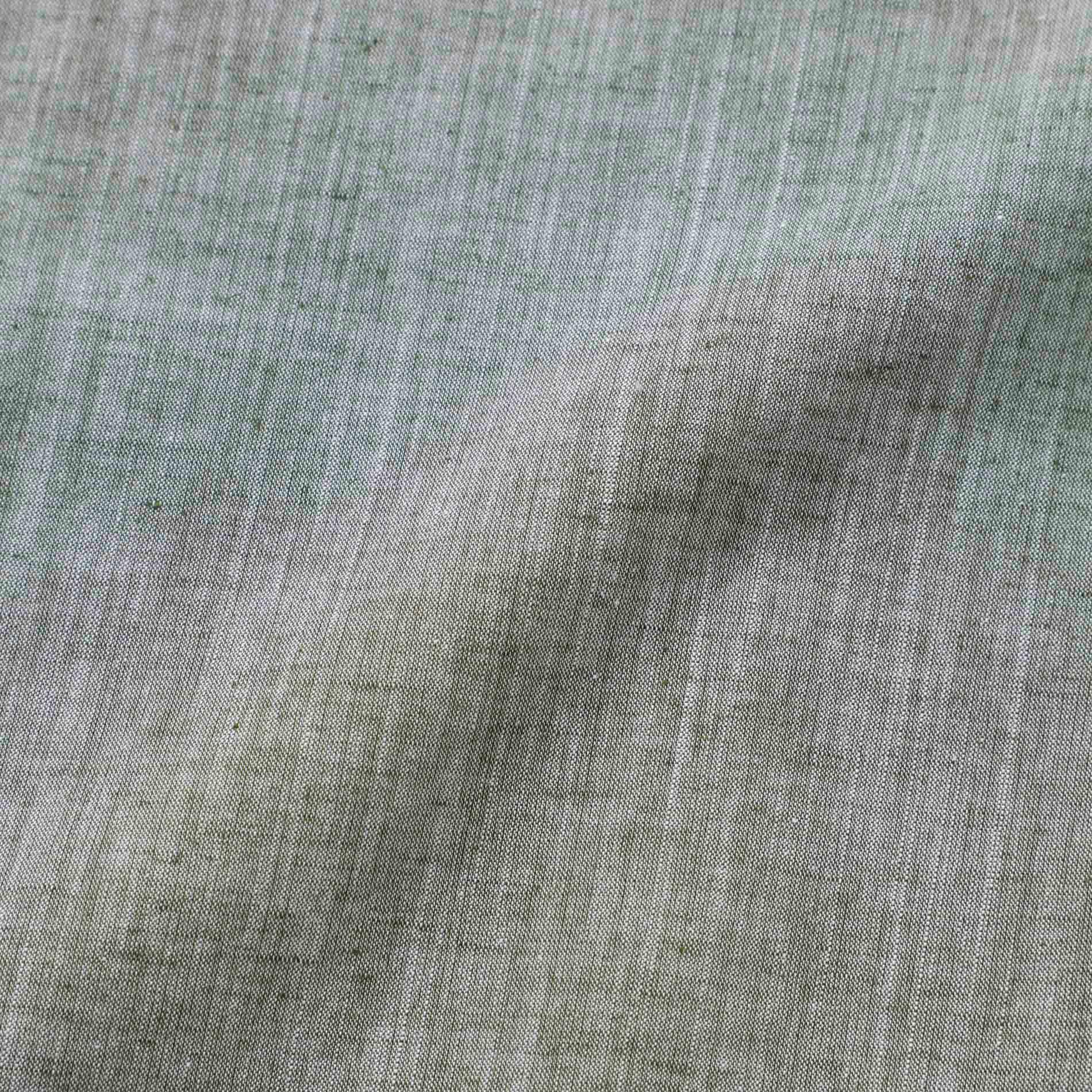 ラブスカル ブロッキング コットンリネンシャツ