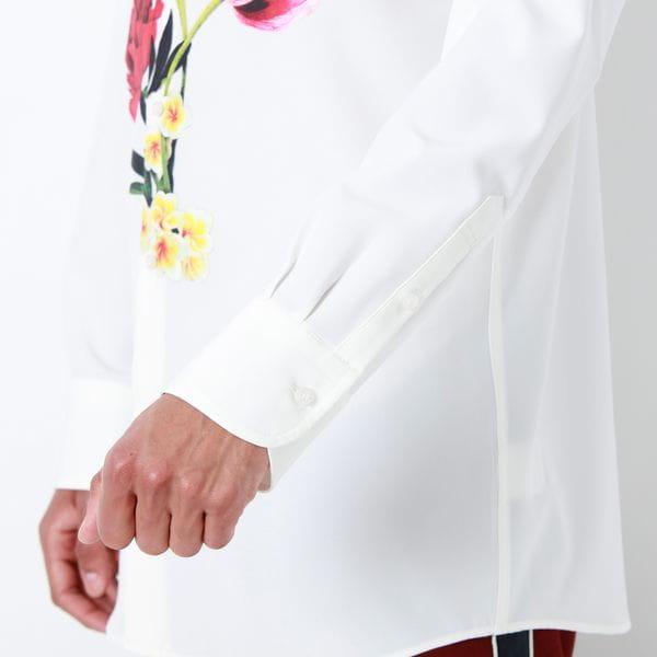 nowartt ビッグフラワー シャツ