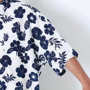 サマーフラワー ハーフスリーブシャツ