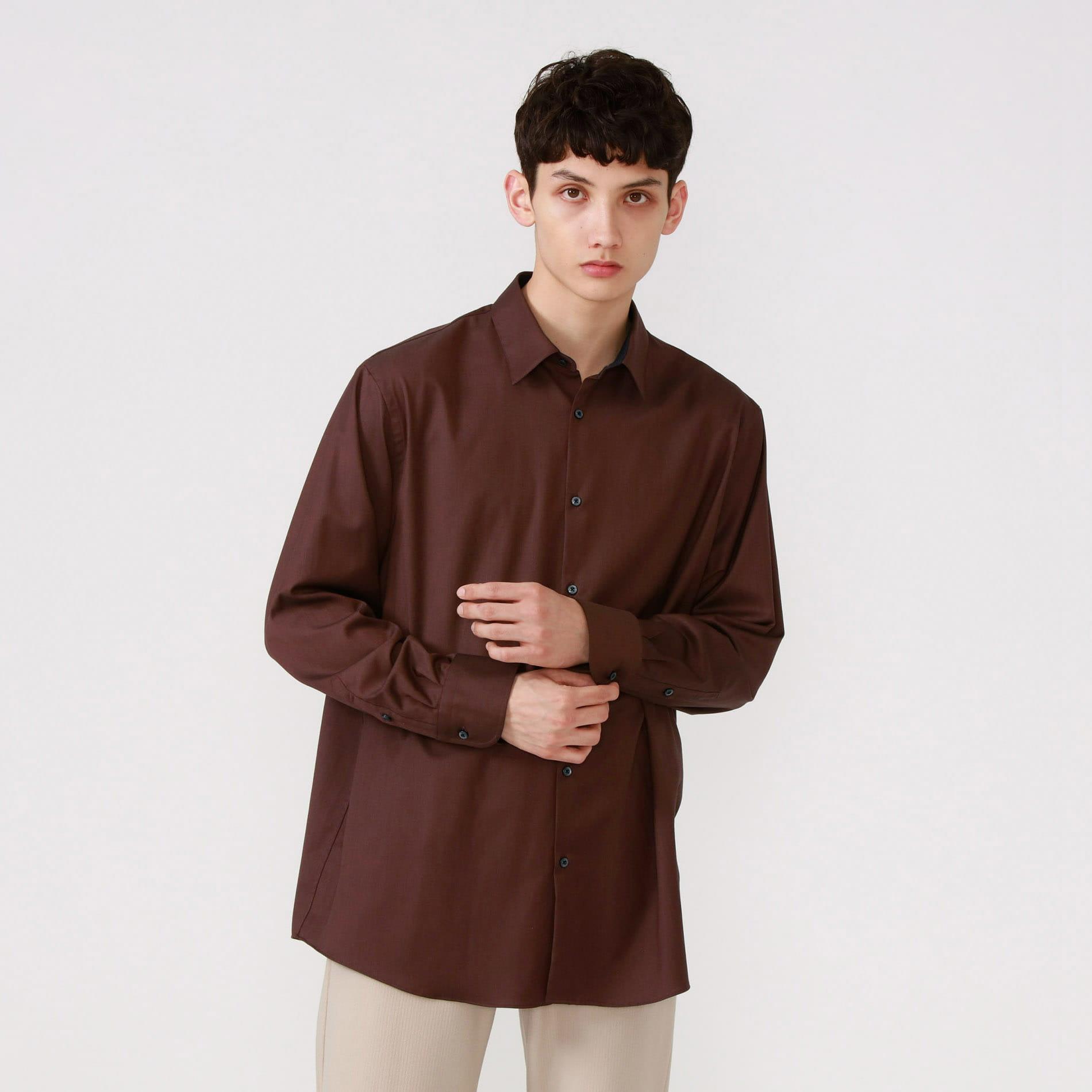 ブラウンリラックス シャツ