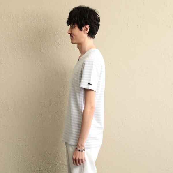 ボーダーパイルTシャツ