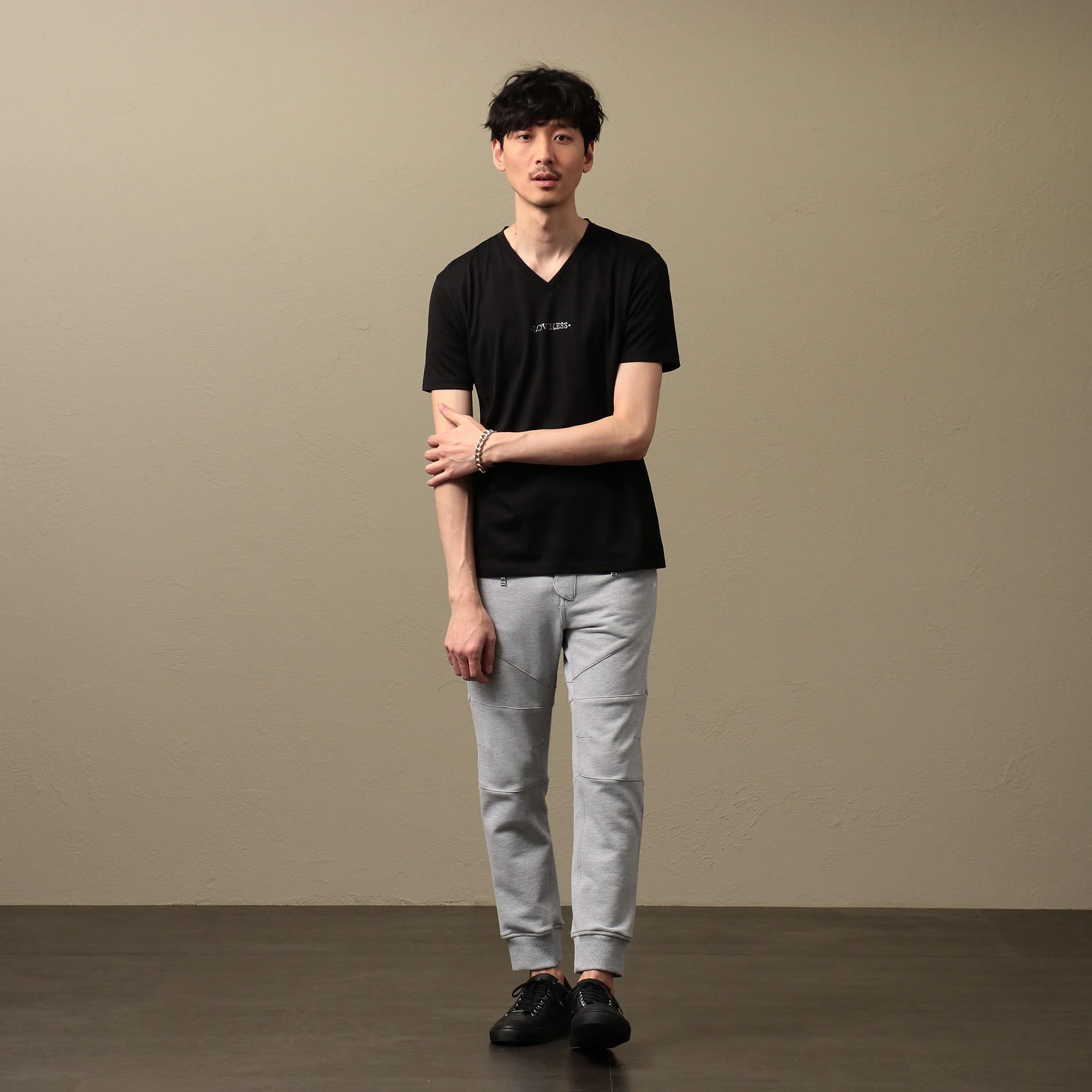 MEN Creative スワロロゴスビンTシャツ