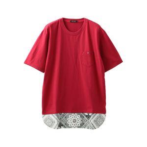 〈タイムセール〉MEN バンダナシャツコンビラージTシャツ