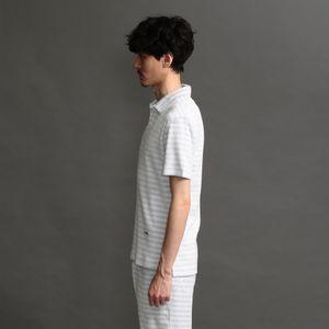 〈タイムセール〉MEN ボーダーパイルポロシャツ