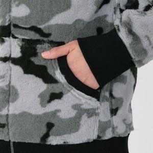 Safari カモフラフリース パーカー