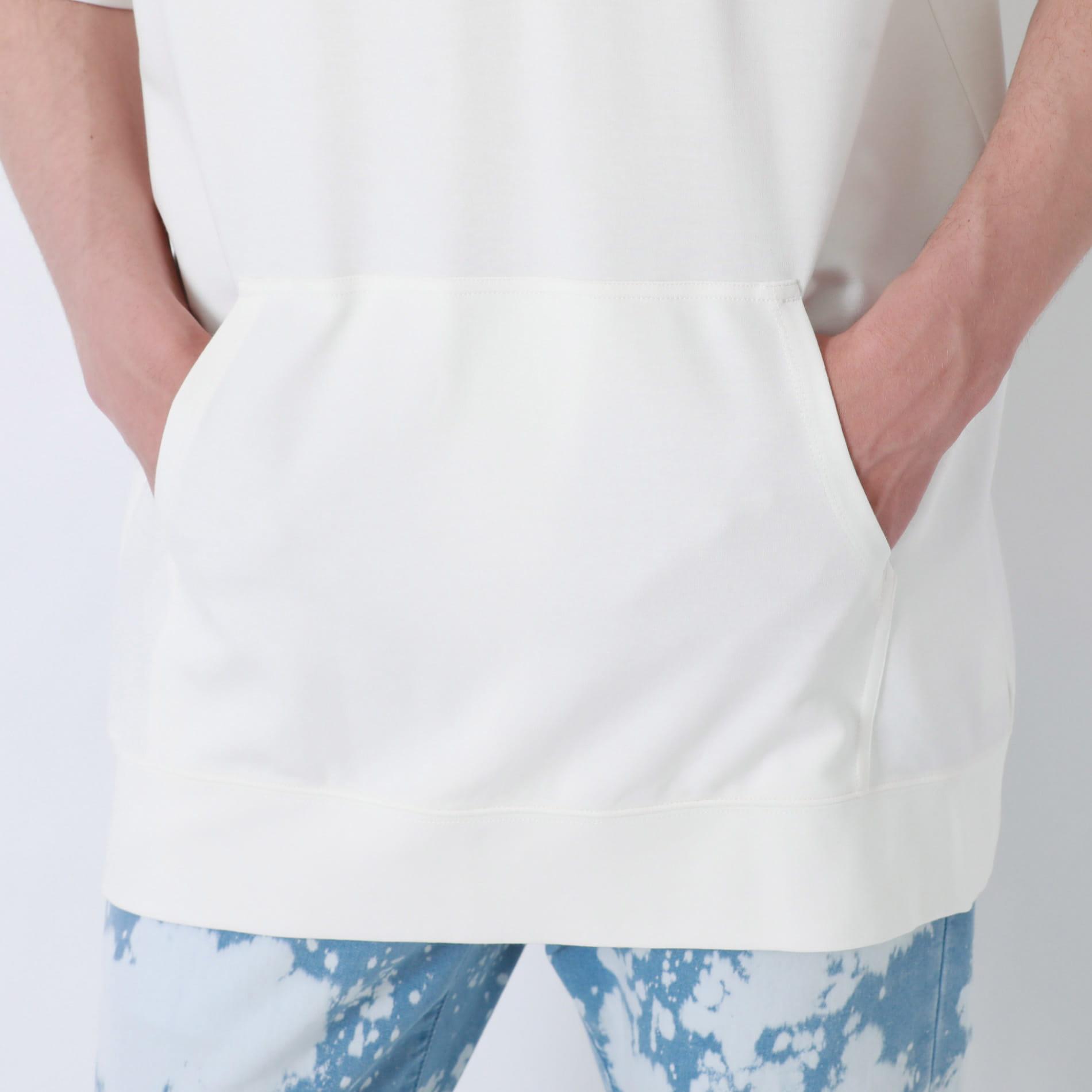 トリコロール ポリクレストロゴ ショートスリーブフーディ
