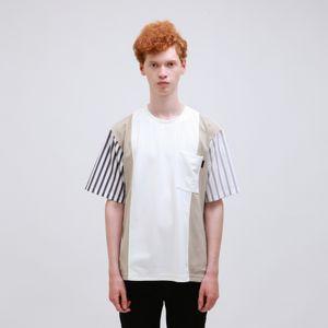 〈タイムセール〉シャツブロッキングTシャツ