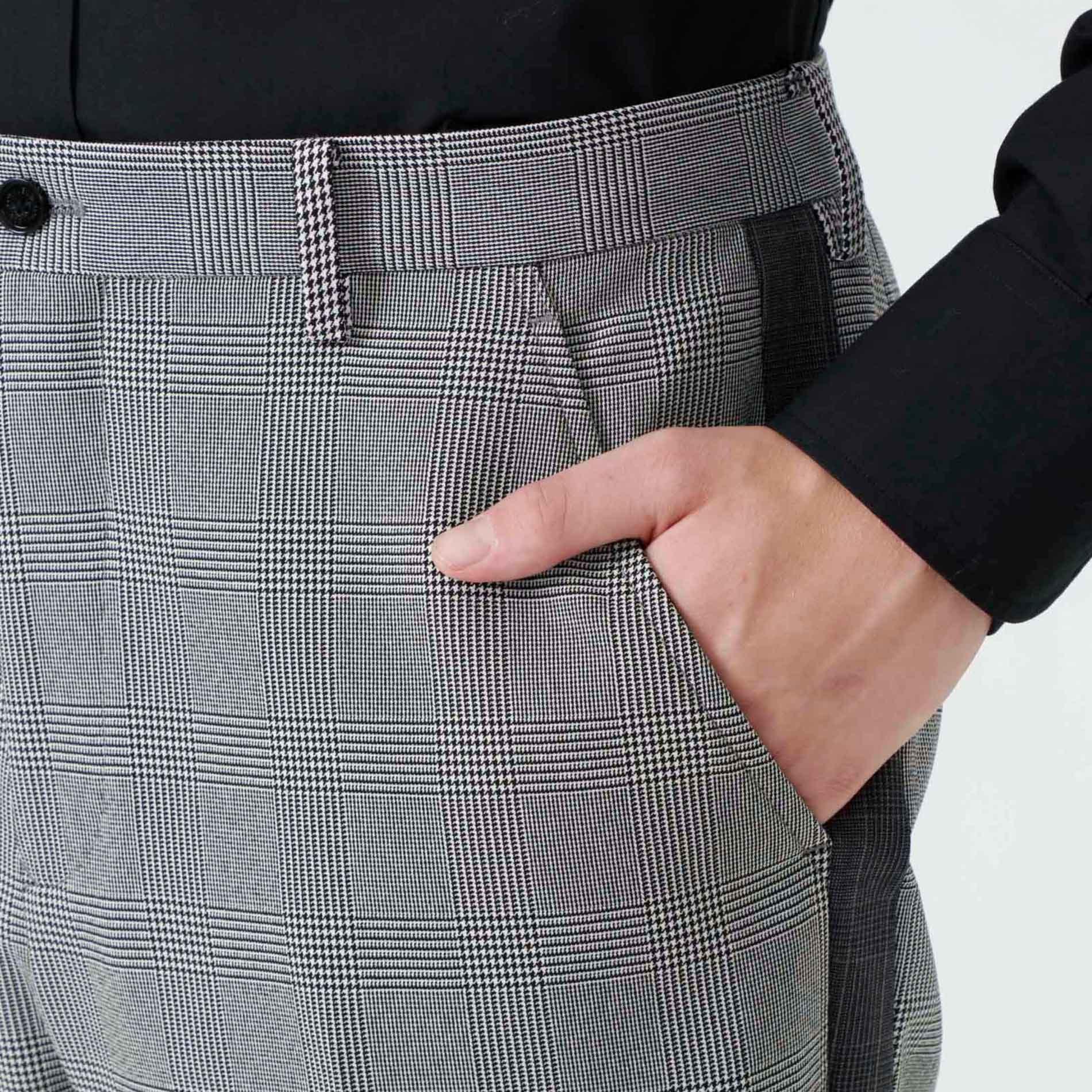 ブロッキングチェック パンツ