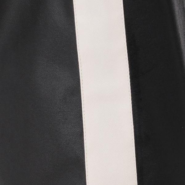 【予約販売】シンセティックレザー サイドライン ジョガーパンツ
