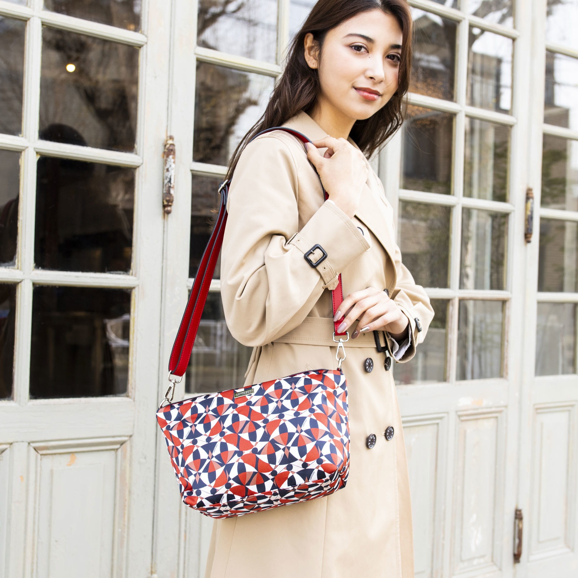 WOMEN スカーフイントートバッグ