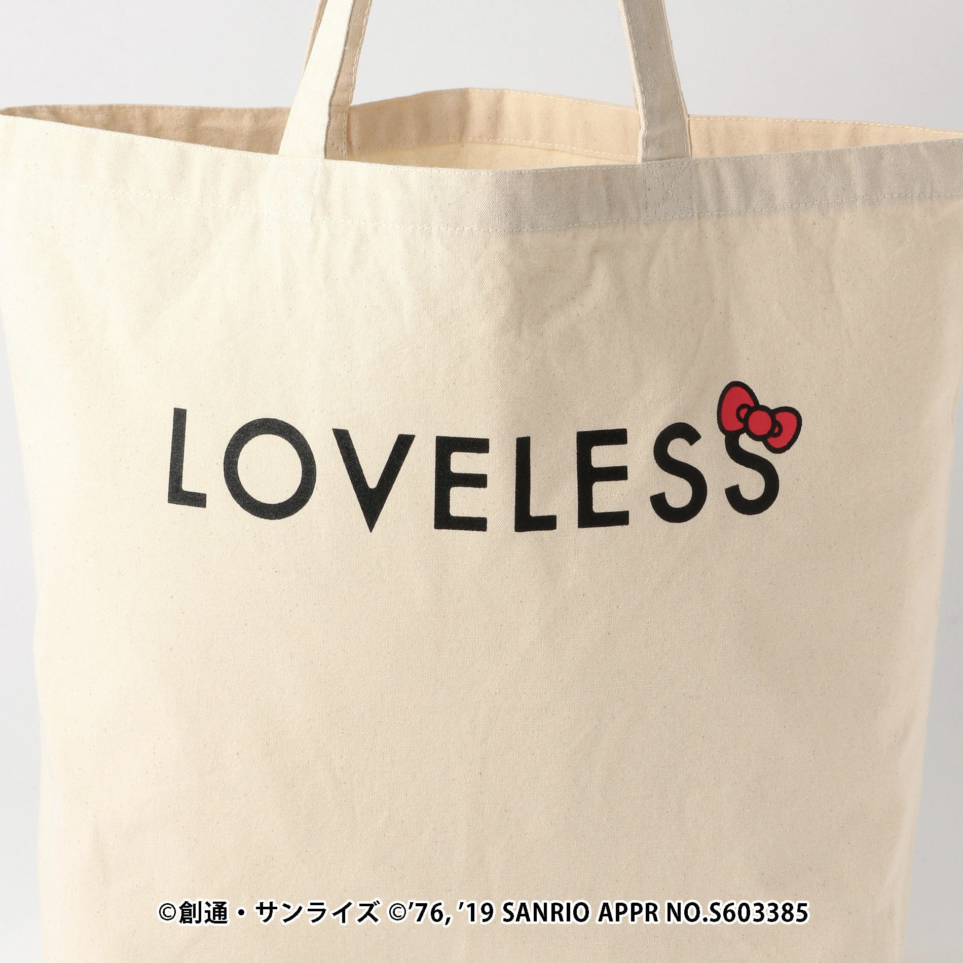 【LOVELESS×HELLO KITTY】キティリボンコラボトート