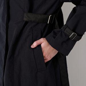 ブラックコンビ フーデッド コート