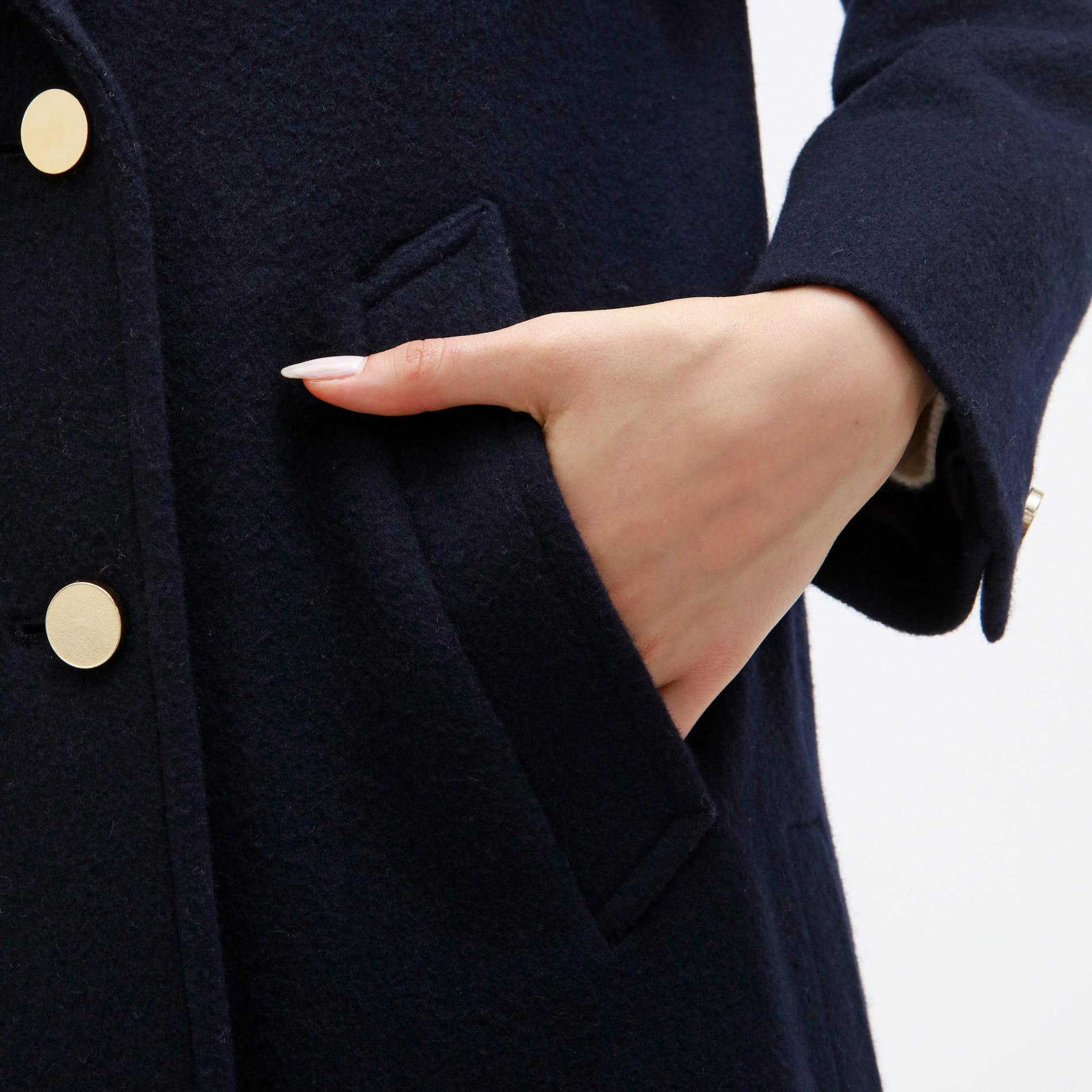 【LOVELESS×otona MUSE】サイド プリーツ ダブルチェスターコート