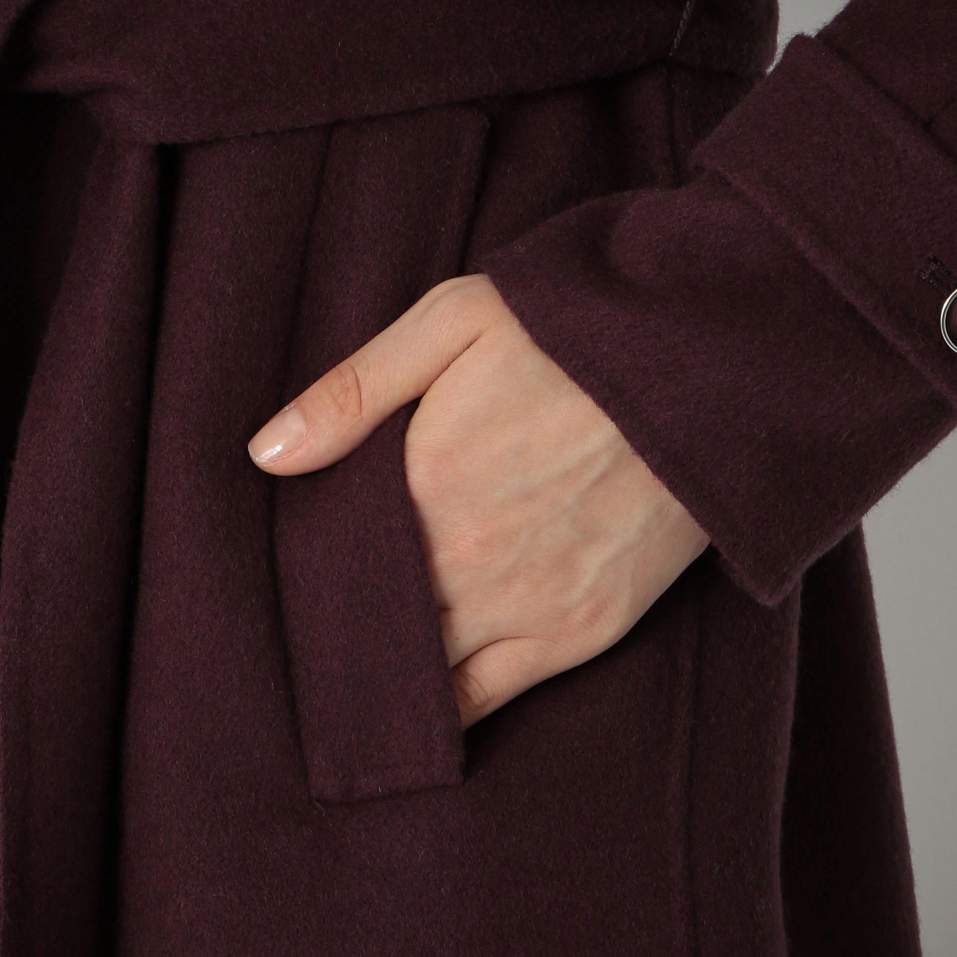 バックプリーツ オーバー コート