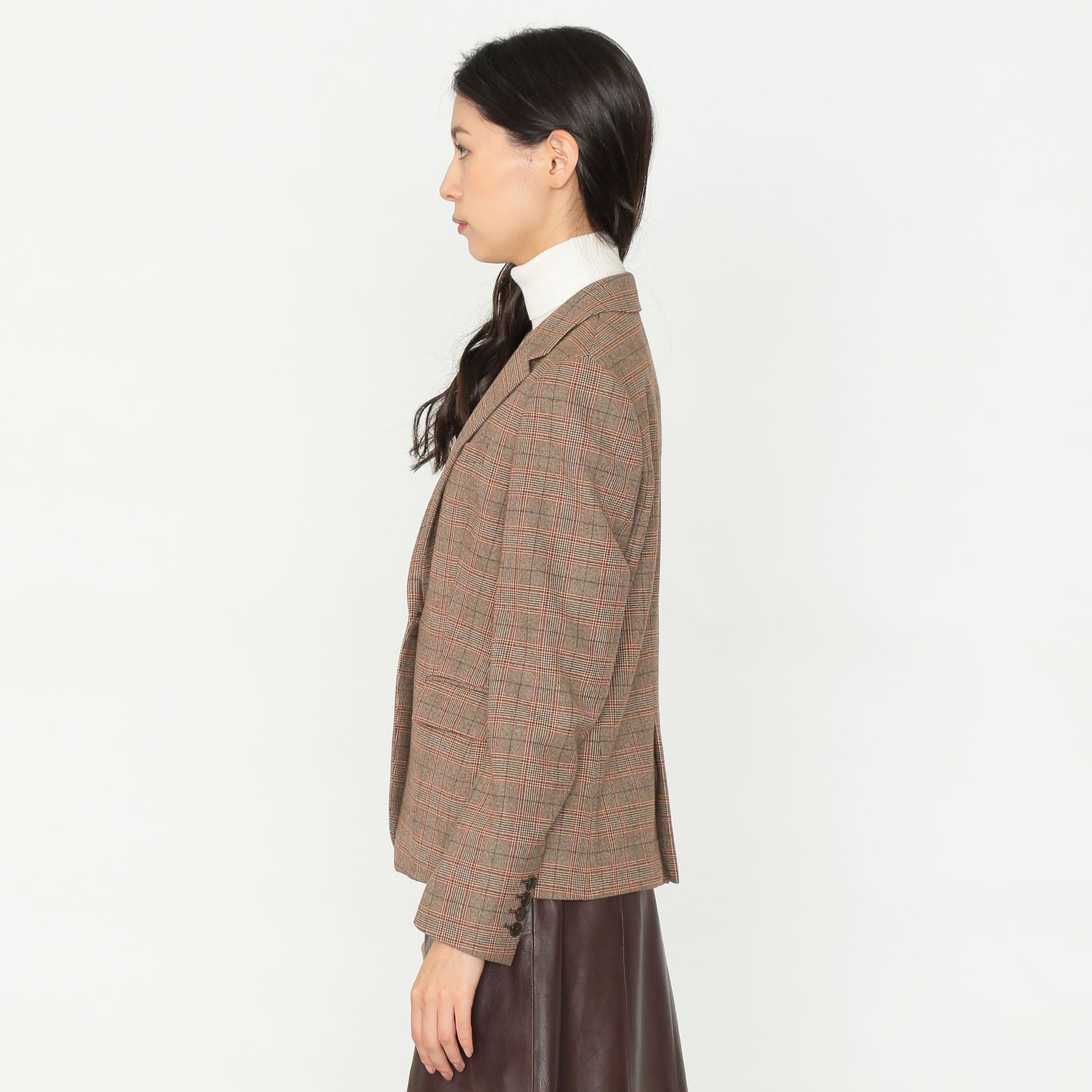 【otonaMUSE10月号掲載】オーバーチェック ジャケット