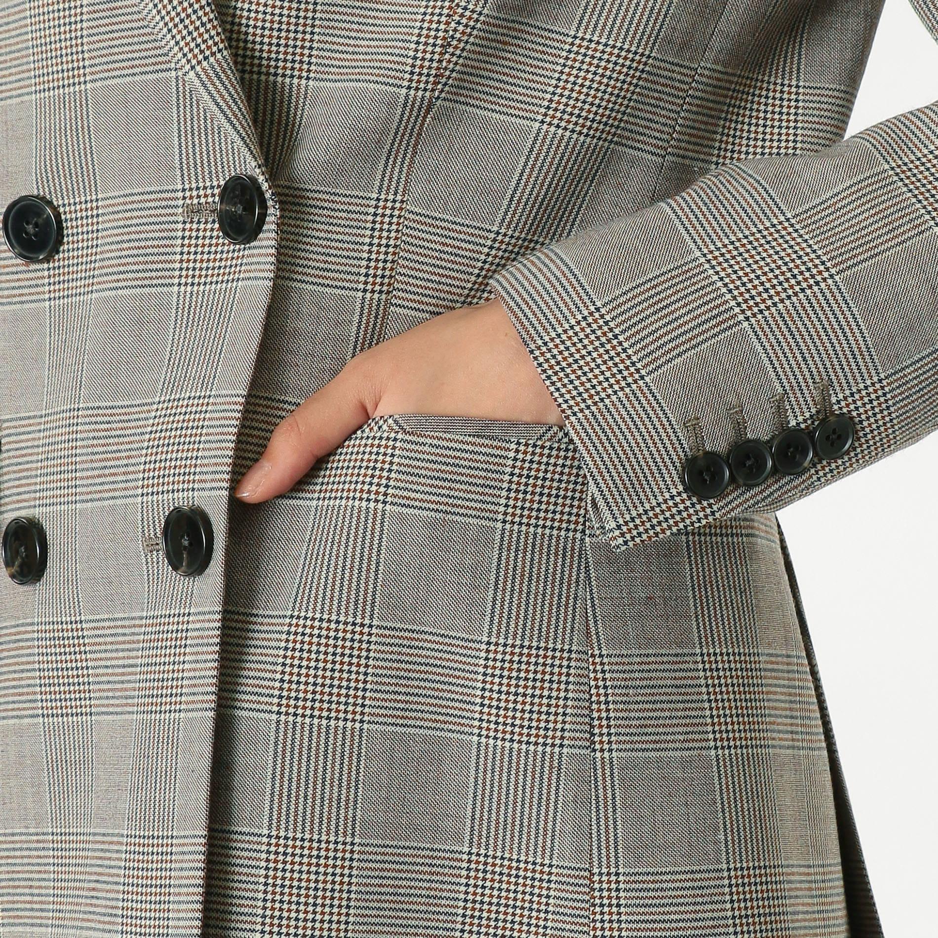 グレンチェック Wブレスト ジャケット