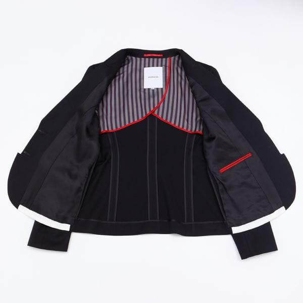 ネイビー パイピングジャケット