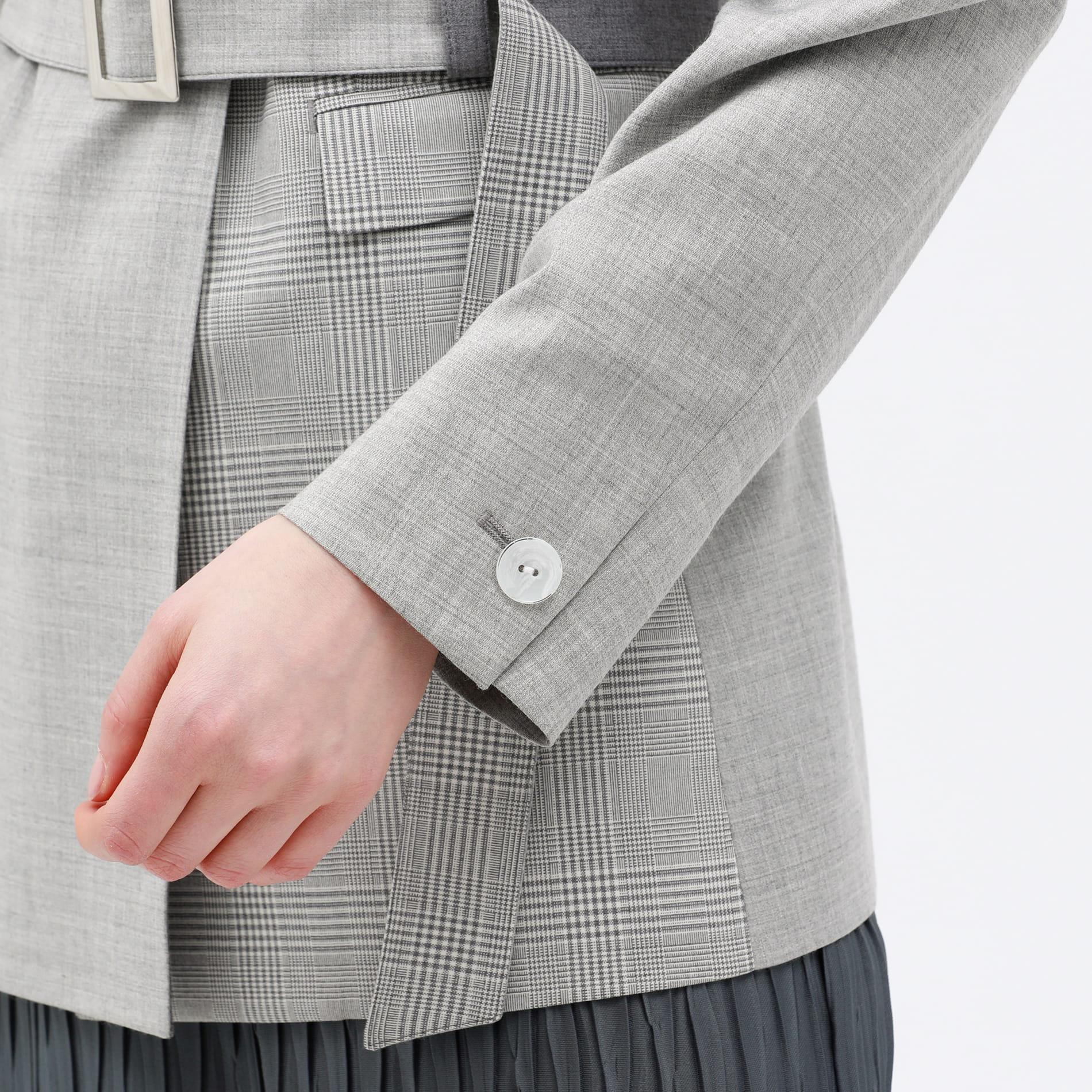 【otona MUSE掲載商品】チェック ブロッキング ジャケット
