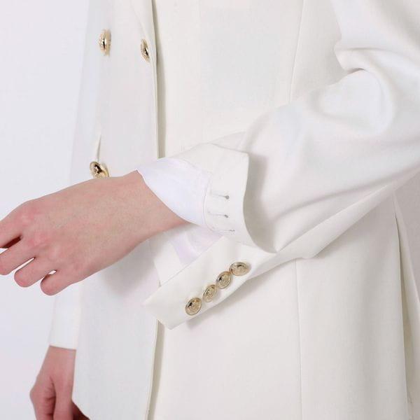 ホワイトコンケープド ダブルジャケット
