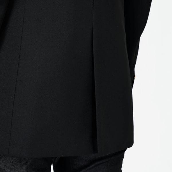 ブラックコンケープド ロングジャケット
