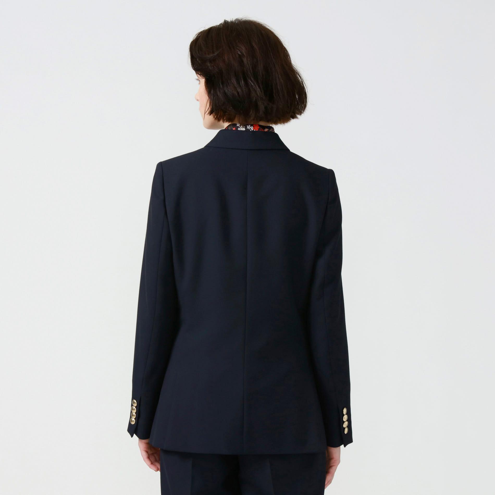 【予約販売】ネイビーコンケープドダブルジャケット