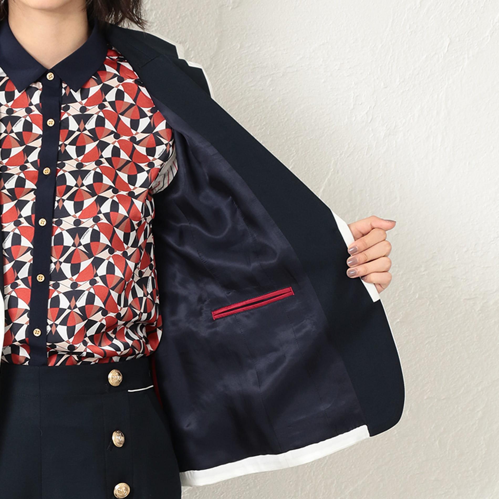 WOMEN トリコロールマリンパイピングジャケット