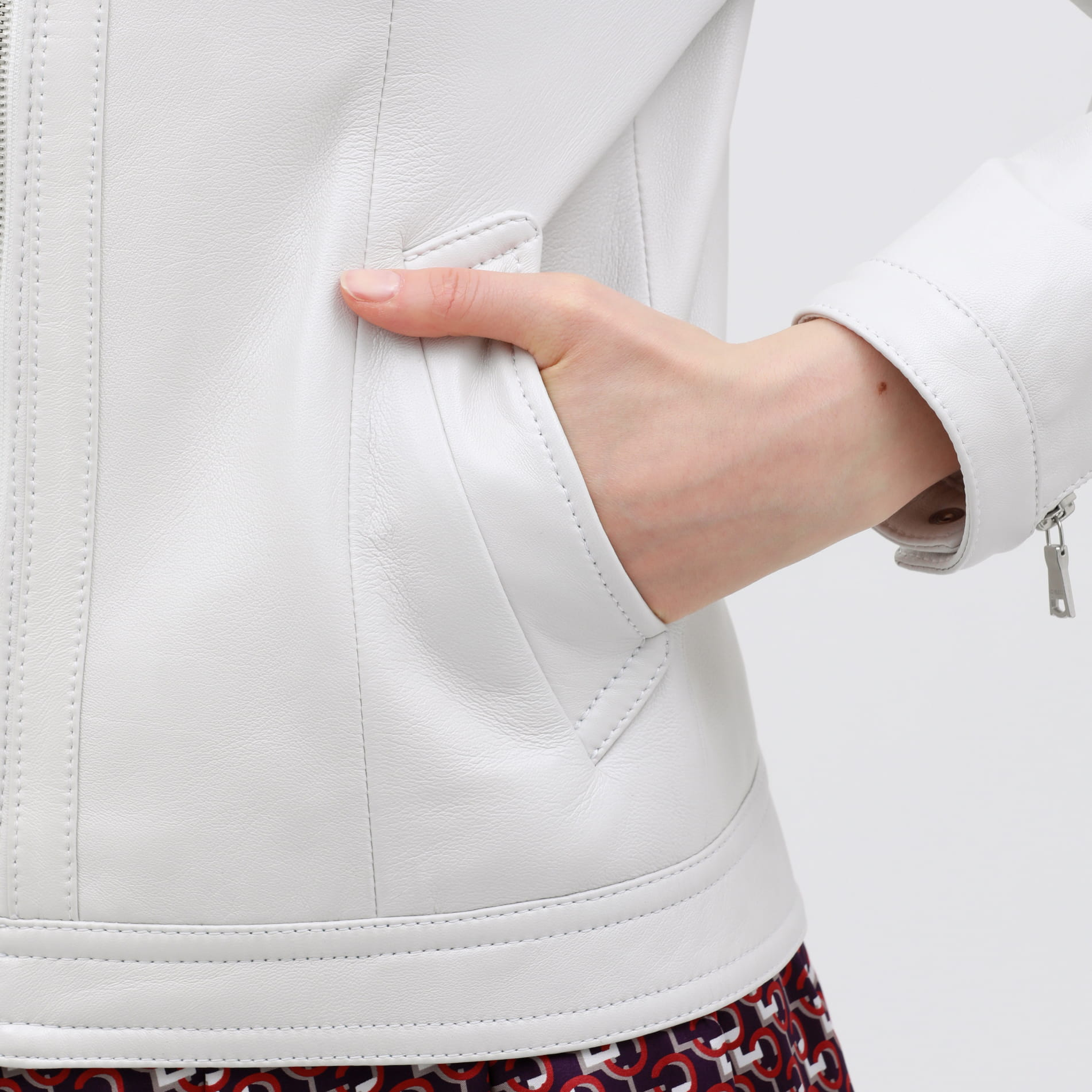 【otona MUSE掲載商品】グロスレザー ナビゲータージャケット