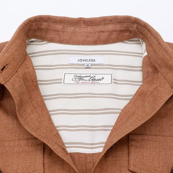 【otona MUSE掲載商品】コンチネンタルリネン シャツ ジャケット