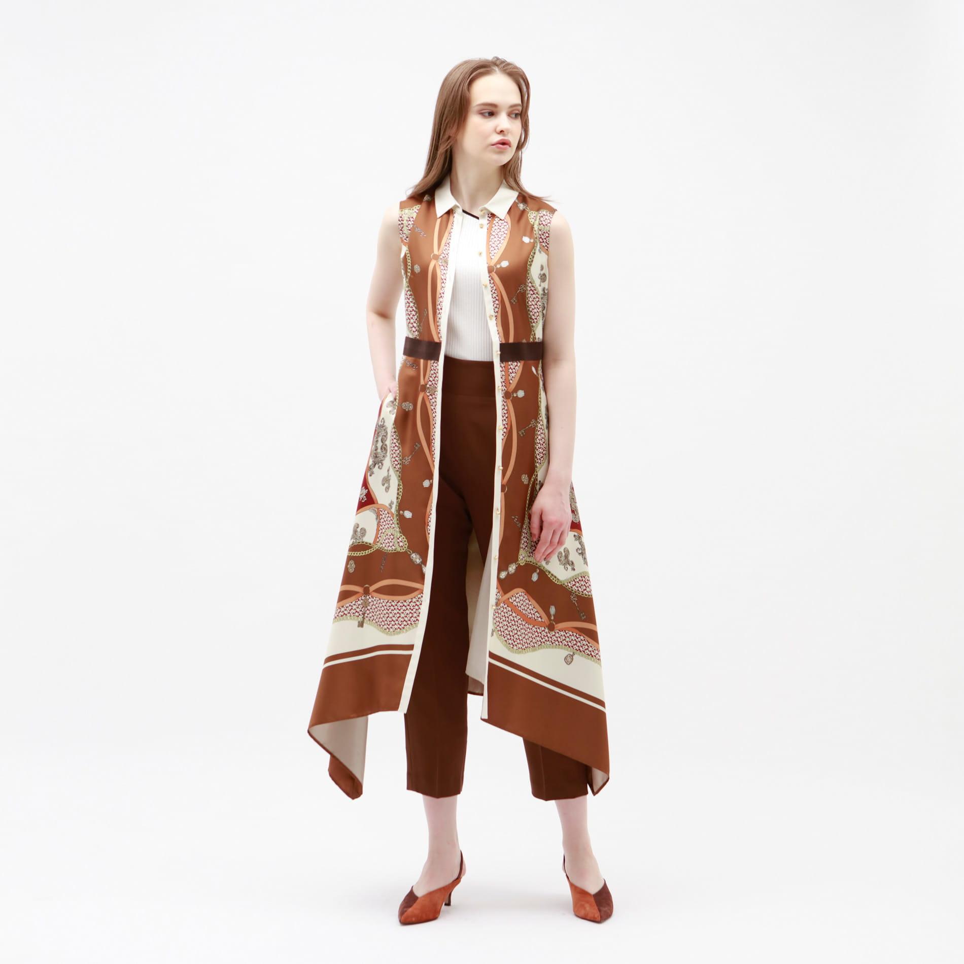 【予約販売】スカーフ フレア ドレス